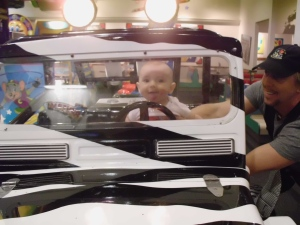 Cody James & Son Jeremiah at Chuck E Cheese